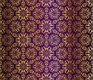 6803335-naadloze-goud-paars-patroon-gea-nspireerd-door-islamitische-kunst